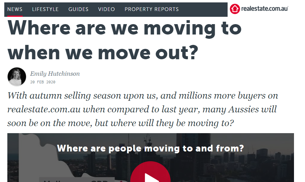 Where Aussies move to